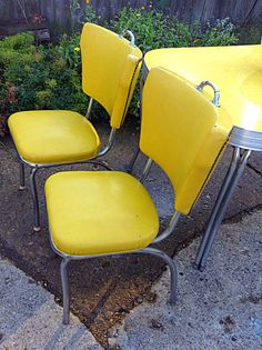 SOLD TO Sandra-1950's dinette chairs on Etsy, $250.00