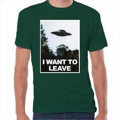 Camiseta friki I want to leave