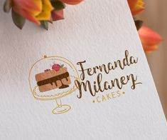 Cake Branding, Cake Packaging, Logo Branding, Packaging Design, Branding Design, Design Logo Inspiration, E Design, Design Trends, Interior Design