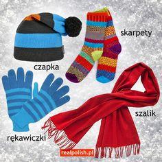 Learn Polish, Polish Language, Speech And Language, Poland, Vocabulary, Education, Learning, Winter Clothes, Speech Language Therapy