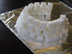 Make an igloo out of sugar cubes