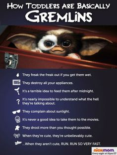 How Toddlers Are Basically Gremlins omg this is hilarious!
