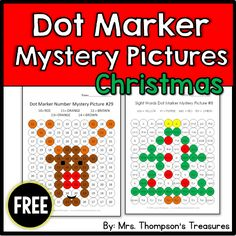 Discover the holiday mystery pictures while practicing letters, numbers and sight words!    **4 activities are included    -2 Christmas tree pictures (alphabet or sight words)    -2 Rudolph pictures (numbers or sight word)