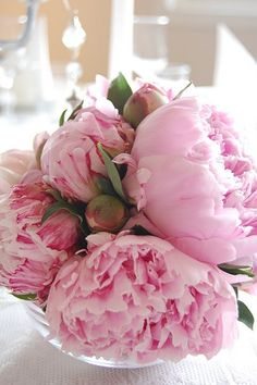 """These peonies look like the ones in my garden in June -""""Sarah Bernhardt"""".  They even smell as beautiful as they look!"""