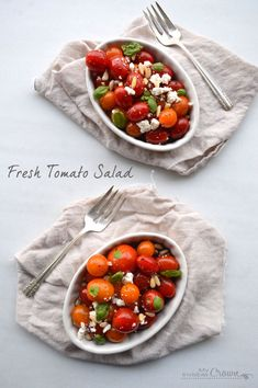 Fresh Tomato Salad by My Invisible Crown