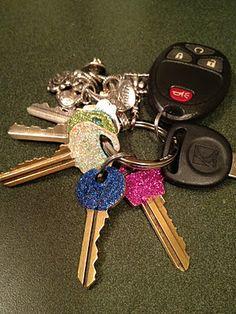 Glitter keys, inspired by Pinterest!