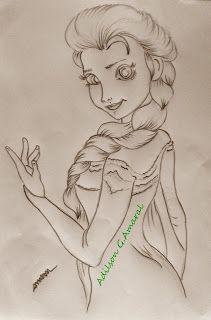 Pintura em tecido   bonecas    riscos   Elsa   frozen                                                                                                                                                                                 Mais