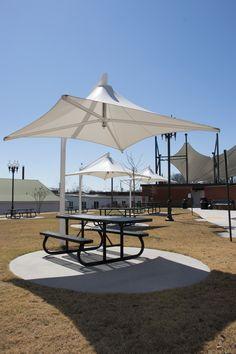 Commercial Cantilever Skyspan Umbrella   Shade outdoor picnic areas with a commercial umbrella!