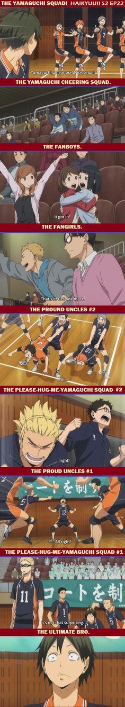 haikyuu!! Season 2 episode 22. just for fun. hooray yamaguchi squad. <3