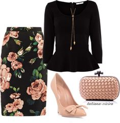 Outstanding Polyvore Combos With Peplum Tops