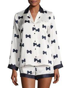 Kate+Spade+New+York+Bow+Tie+Short+Pajamas+Set+Cream+|+Underwear,+Pants+and+Clothing