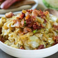 Sweet & Sour Cabbage # with Bacon # a German dish # !!