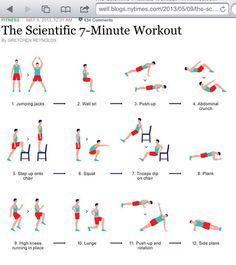 Ejercicios para hacer con intensidad en 7 minutos