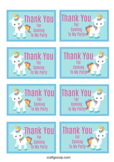 These free Unicorn gift tags are the perfect addition to your Unicorn party decorations. You can use them for so many different printouts. Make Unicorn Food labels, thank you cards, name tags and m… Diy Unicorn Birthday Party, Birthday Tags, Unicorn Birthday Parties, Birthday Party Decorations, Party Themes, Party Ideas, Unicorn Party Favor, 5th Birthday, Diy Party