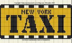 Grille gratuite point de croix: New York taxi