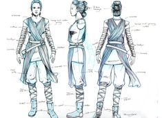 Rey Costume Turnaround ★ || CHARACTER DESIGN REFERENCES (https://www.facebook.com/CharacterDesignReferences & https://www.pinterest.com/characterdesigh) • Love Character Design? Join the Character Design Challenge (link→ https://www.facebook.com/groups/CharacterDesignChallenge) Share your unique vision of a theme, promote your art in a community of over 35.000 artists! || ★