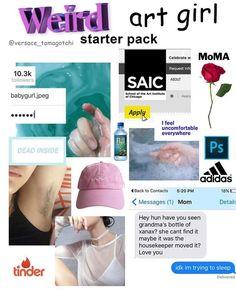 Weird Art Girl Starter Pack : starterpacks