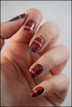 Tartan Nails- for the person with tons of time on their hands!
