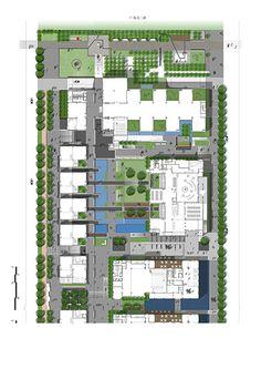 Beijiao Cultural Centre by Gravity Green « Landscape Architecture Platform Plans Architecture, Futuristic Architecture, Landscape Architecture, Landscape Design Plans, Landscape Concept, Urban Design Plan, Site Plans, Cultural Center, Master Plan