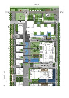 Beijiao Cultural Centre by Gravity Green « Landscape Architecture Platform Landscape Design Plans, Landscape Concept, Green Landscape, Plans Architecture, Futuristic Architecture, Landscape Architecture, Urban Design Plan, Site Plans, Cultural Center