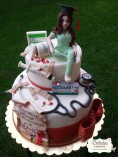 Doctor Birthday Cake, Doctor Cake, Nursing Graduation Cakes, Graduation Party Decor, Medical Cake, Nurse Party, Rosalie, Pretty Birthday Cakes, Gateaux Cake