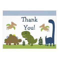 Adorable Dino/Dinosaurs Baby Thank You Cards