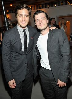 Josh Hutcherson with Diego Boneta attend a cocktail event hosted by Dior Homme's Kris Van Assche at Chateau Marmont on September 24, 2015 in Los Angeles, California.