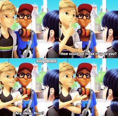 Despite the fact that Adrien needs to be with Marinette, you have to admit Adrien's a good wingman