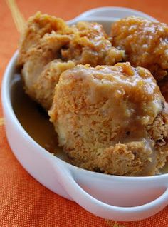 Pumpkin Raisin Bread Pudding with Butterscotch Sauce