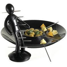 The Ex Skewer Set with Unique Black Holder and Tray designed by Raffaele Iannell #TheEX