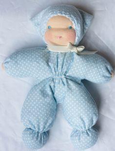 Waldorf Doll Baby Doll Child Friendly por PreciousLambsGifts