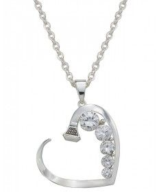 Montana Silversmiths Silver Heart and Horseshoe Nail Necklace