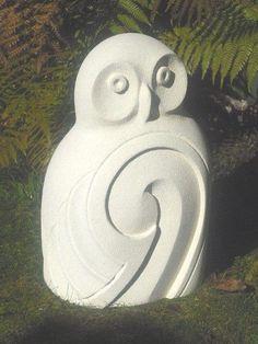 Сова завиток камень скульптура