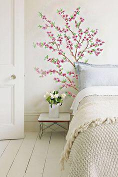 want walls that are as pretty as a peach why not get a peach branch wall mural