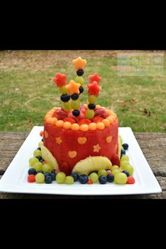 "Fresh fruit ""cake""!"