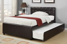 Espresso Full Size Bed With Twin Size Trundle Bed Bedroom Lowest with proportions 1200 X 800 Double Trundle Bed Bedroom Furniture - Ideas design whenever you have to grow the […] Queen Size Trundle Bed, Full Bed With Trundle, Cama Queen Size, Trundle Bed With Storage, Trundle Bed Frame, Bed Storage, Queen Size Bedding, Comforter Set, Bedding Sets