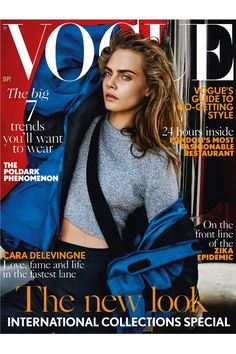 <i>Suicide Squad</i> star Cara Delevingne strikes a pose for Mario Testino for yet another<i> </i>British<i> Vogue</i> cover. <i>(Photo:…