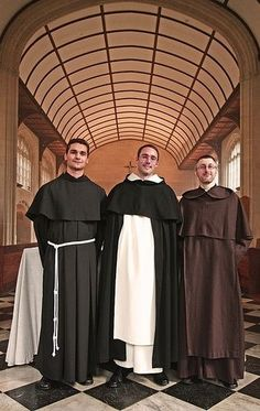 Three Friars - Three different orders - Franciscan, Dominican, Carmelite. All in Oxford.