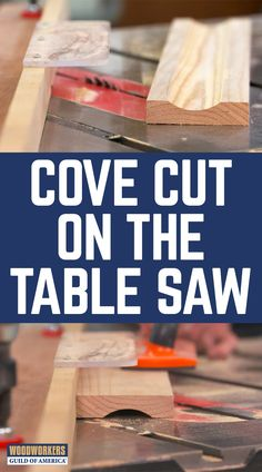 Let's say you're working on a project that requires some cove molding, and your lumber yard doesn't carry the size that you need. Wood Router, Wood Lathe, Cnc Router, Lathe Projects, Wood Projects, Table Saw, A Table, Woodworking Jigs, Woodworking Projects