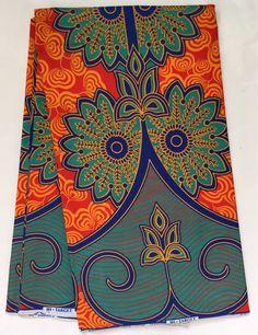 House of Mami Wata African Print Fabrics https://www.etsy.com/listing/457326908/african-print-fabric-ankara-orangeteal