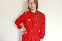 NOS Soviet Mod Dress / 1970's USSR Vintage by MonstersOverTheSea