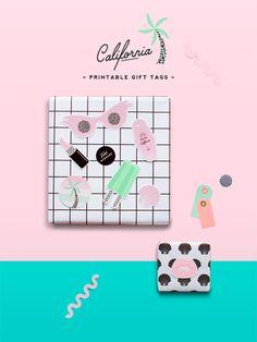 'California' Printable Gift Tag Set