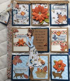 Pocket Letter - Prima Doll Theme for Yamil in Puerto Rico. Scrapbook Cards, Scrapbooking, Pocket Letters, Artist Trading Cards, Happy Mail, Mini Books, Journal Cards, Atc, Project Life
