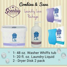 Combine & Save on your favorite Scentsy Laundry Products: www.meltalilscent.scentsy.us