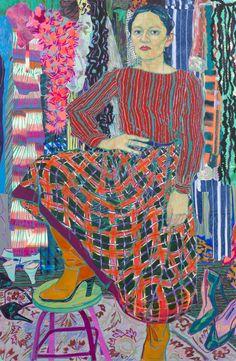 Hope Gangloff - Ballpoint Pen Art - Figurative Painting - Yelena, 2015