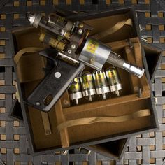 Cool Raygun made of old radio and camera parts.  Step by step photos.