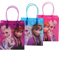 6 Pcs Disney Frozen Authentic Licensed Small Party Plastic Favor Gift Bags | eBay
