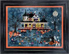 Seedy Pumpkin Cottage from Praiseworthy Stitches - click for more