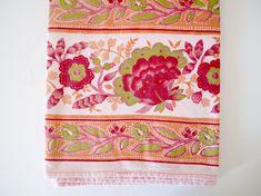 Französische Provence Tischdecke Boho rosa und orange indischen Indien / floral