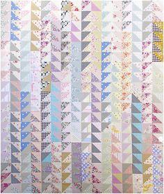 Scandinavia ~ Oakshott + Liberty ~ Half Square Triangle Quilt | Red Pepper Quilts 2015